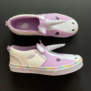 Vans girls Unicorn shoes youth size 5.5